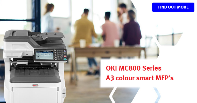 OKI MC800 series A3 colour smart MFP's