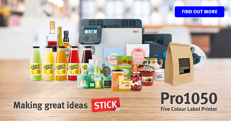 OKI 5 colour label printer Pro1050