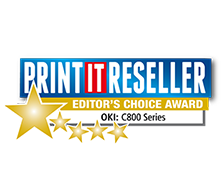 OKI's C800 Series wins Editor's Choice Award from Print IT Reseller Magazine