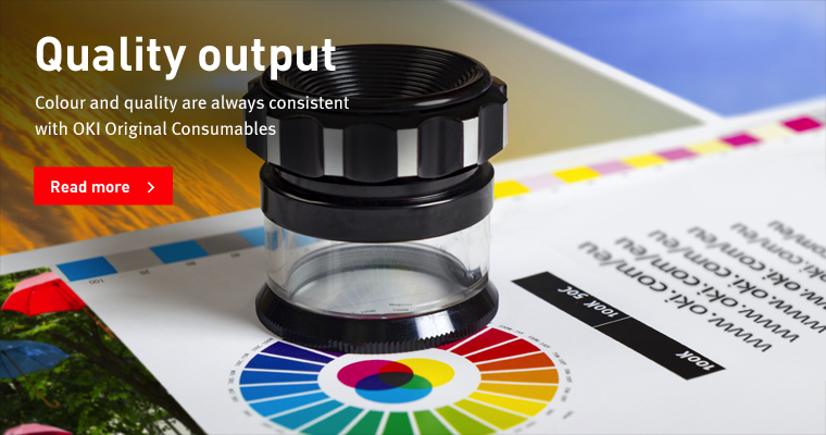 Quality output with OKI print catridges, OKI Ink cartridges and OKI print toners, Original consumables