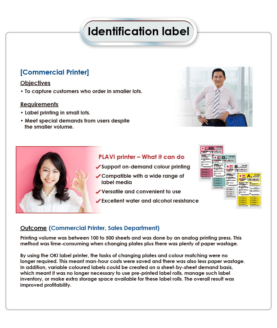 Identification label (commercial printer)