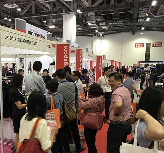 OKI booth at PrintPack+Sign 2017 event