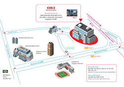 OKI Singapore office (map and transport details)