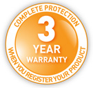 3 Year On-Site Warranty