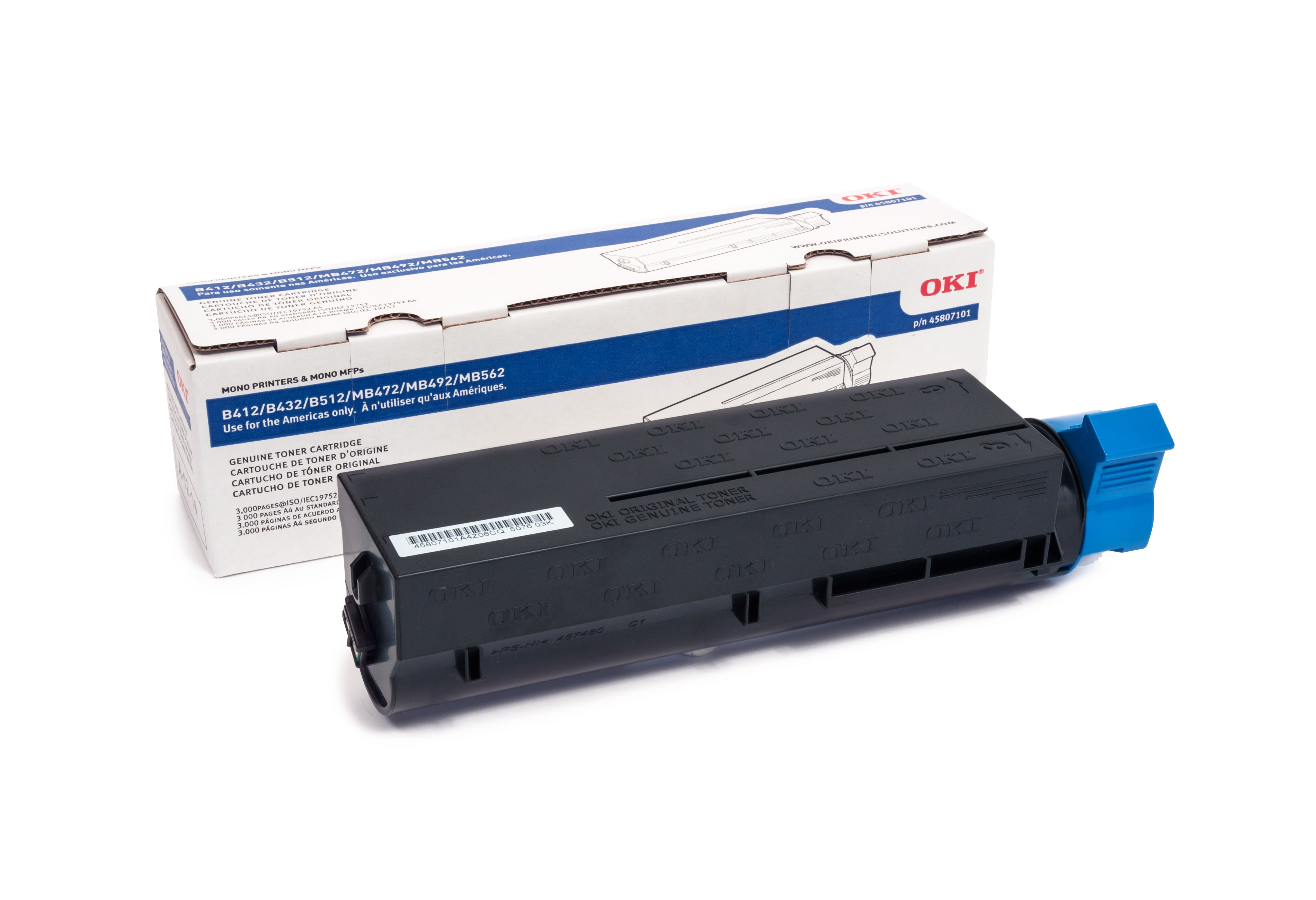 Black Small capacity toner cartridge