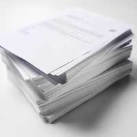 Bond paper is the most common and standard paper that is used in a wide variety of applications, from business forms to household stationery. It is a strong sheet used in most copiers and desktop printers in the form of 8 ½ x 11 inch 20 lb. standard copy and printer paper.