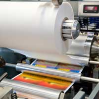 Offset paper is used in offset printing presses.